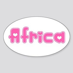 """Africa"" Oval Sticker"