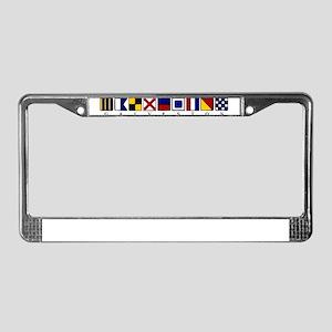 Nautical Galveston License Plate Frame