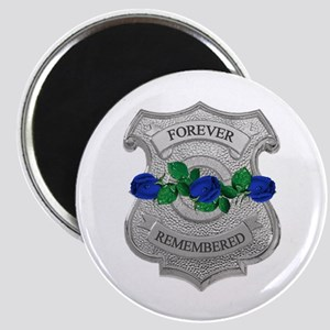 Blue Rose Badge Magnet