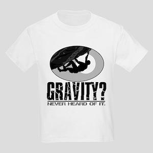 Gravity? Rock Climber Kids Light T-Shirt