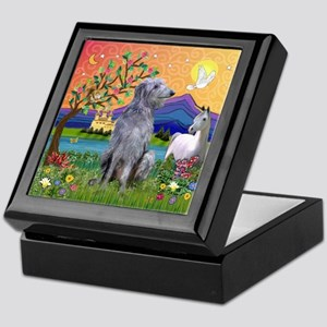 Deerhound in Fantasy Land Keepsake Box