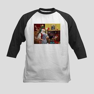 Santa's Deerhound Kids Baseball Jersey