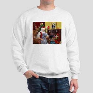 Santa's Deerhound Sweatshirt