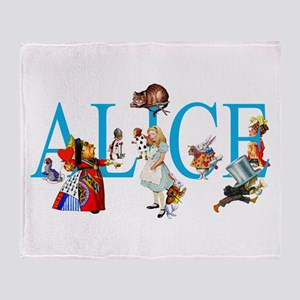 ALICE & FRIENDS IN WONDERLAND Throw Blanket