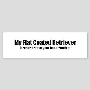 My Flat Coated Retriever is s Bumper Sticker