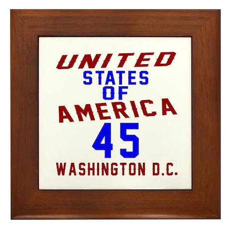 America 45 Birthday Framed Tile