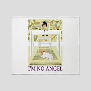 I'M NO ANGEL Throw Blanket