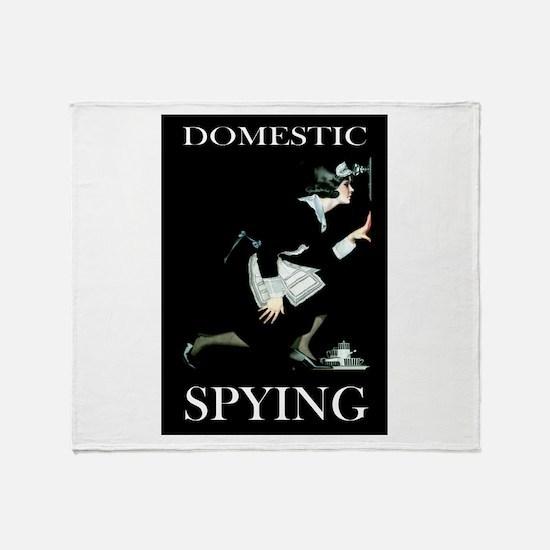 DOMESTIC SPYING Throw Blanket