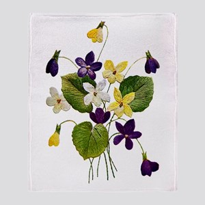 VIOLETS Throw Blanket