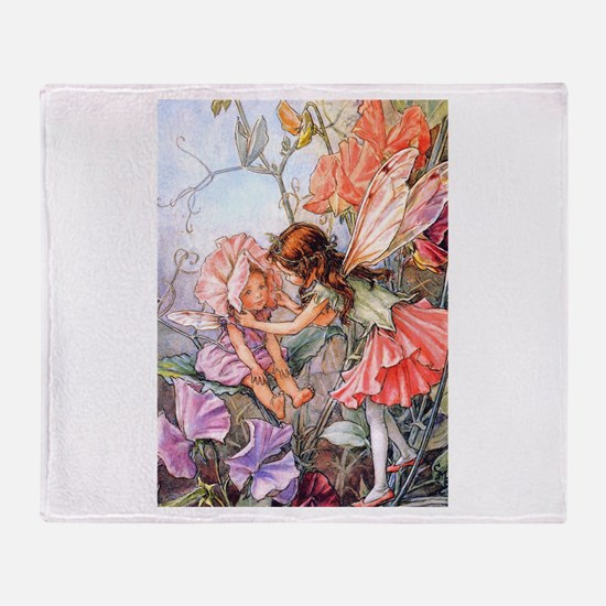 SWEET PEA FAIRY II Throw Blanket