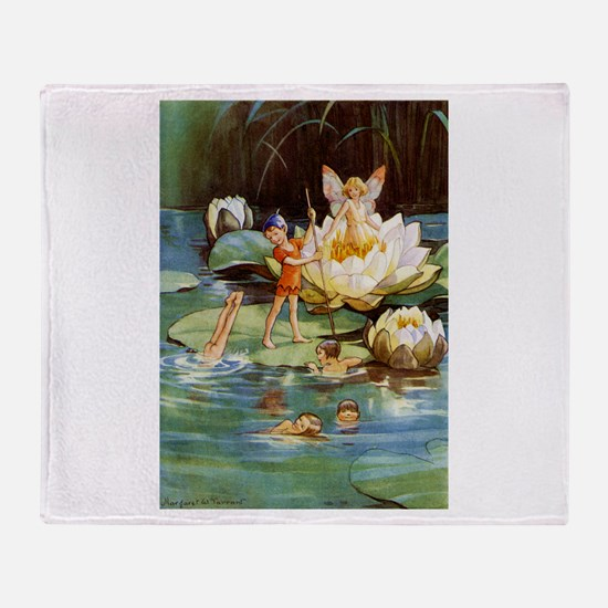 WATER LILY FAIRIES Throw Blanket