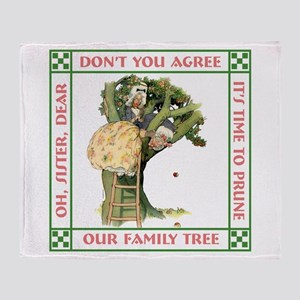 PRUNING THE FAMILY TREE Throw Blanket