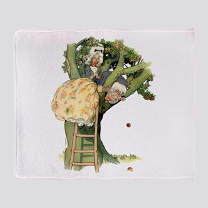 TWO OLD MAIDS UP A TREE Throw Blanket