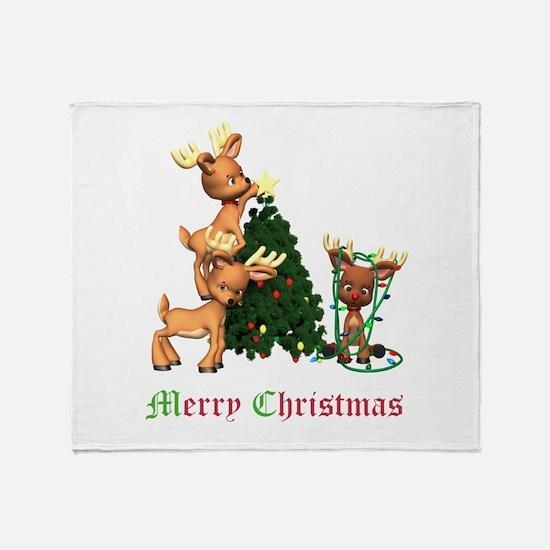 REINDEER CHRISTMAS Throw Blanket