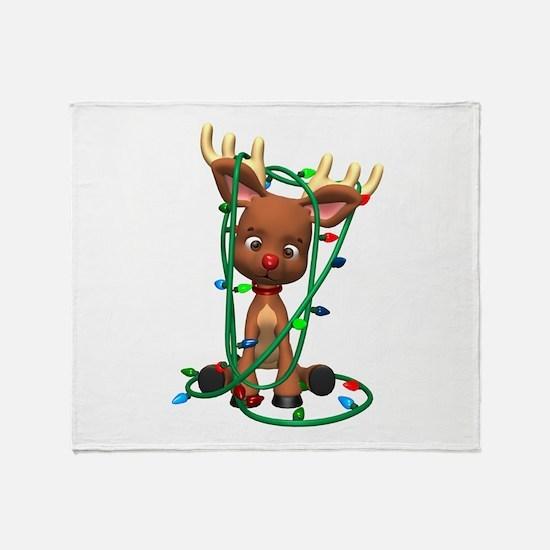 Rudolf - Oh, Deer! Throw Blanket