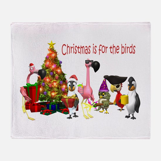 CHRISTMAS IS FOR THE BIRDS Throw Blanket