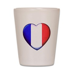My French Heart Shot Glass