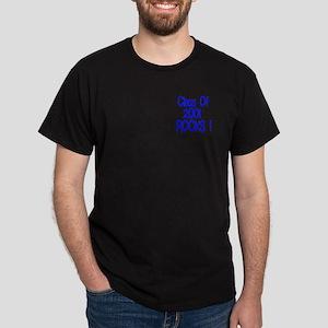 2001 blue Black T-Shirt