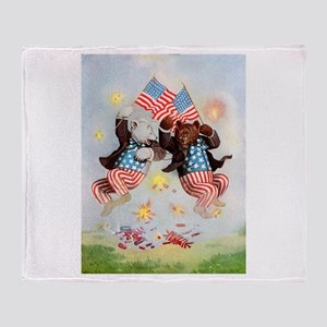 Roosevelt Bears - 4th of July Throw Blanket