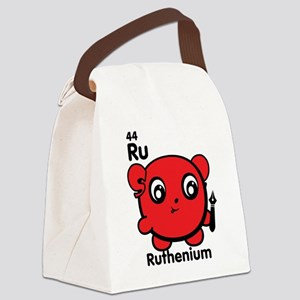 Cute Element Ruthenium Ru Canvas Lunch Bag