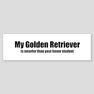 My Golden Retriever is smarte Bumper Sticker