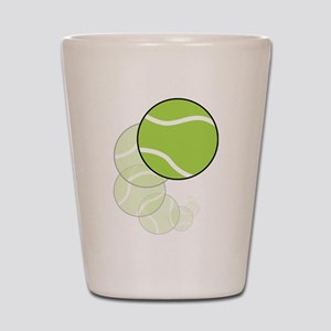 Tennis Wave Shot Glass