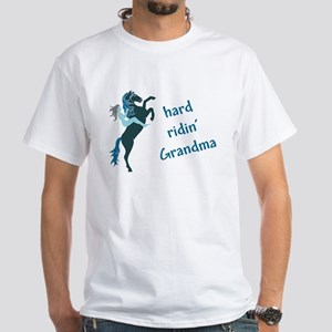 hard ridin' grandma White T-Shirt