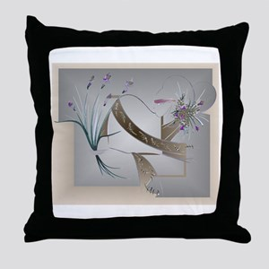 Flower Song Antique Throw Pillow