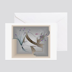 Housewarming greeting cards cafepress flower song antique greeting cards pk of 10 m4hsunfo