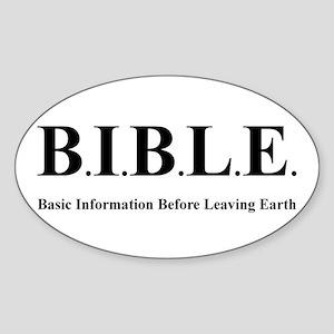 B.I.B.L.E. Oval Sticker