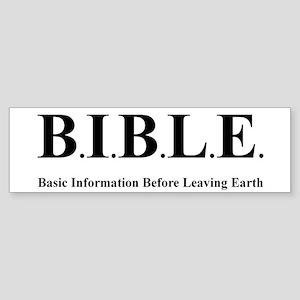 B.I.B.L.E. Bumper Sticker