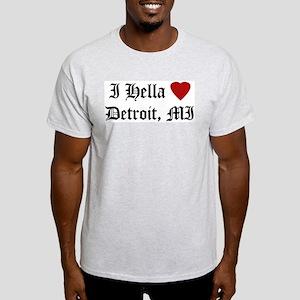 Hella Love Detroit Ash Grey T-Shirt