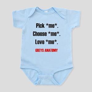 Greys Anatomy Pickme Choose m Infant Bodysuit