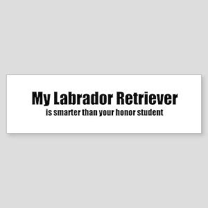 My Labrador Retriever is smar Bumper Sticker