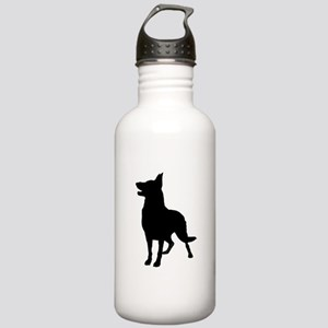 German Shepherd Silhouette Stainless Water Bottle