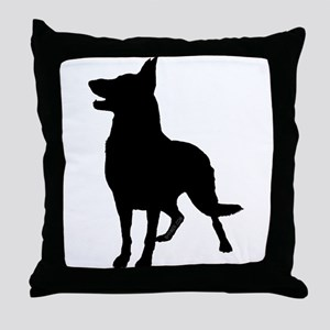 German Shepherd Silhouette Throw Pillow