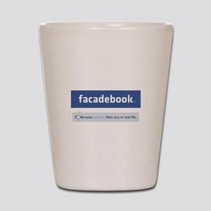 Facadebook Shot Glass