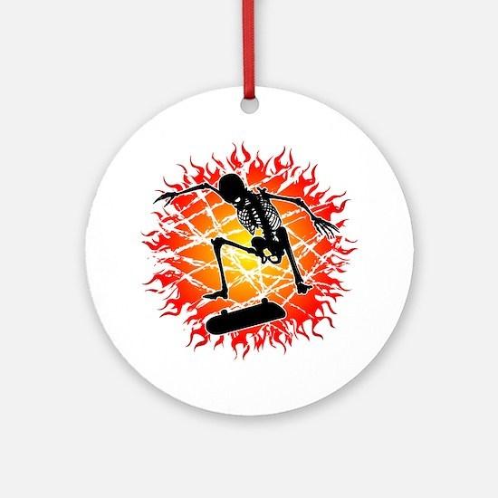 skeleton kickflip Ornament (Round)