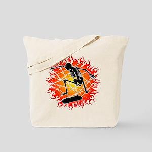 skeleton kickflip Tote Bag