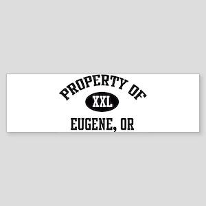 Property of Eugene Bumper Sticker