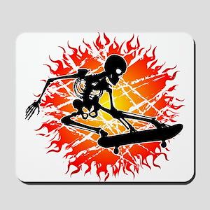 skeleton kickflip Mousepad