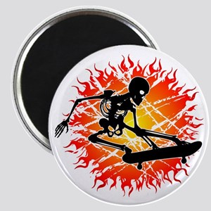 skeleton kickflip Magnet
