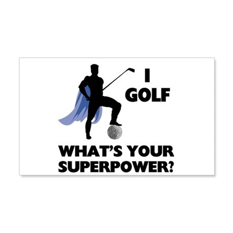 Golf Superhero 22x14 Wall Peel