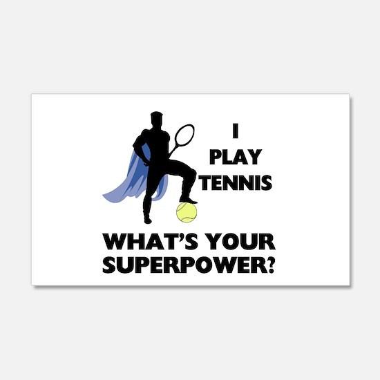 Tennis Superpower Decal Wall Sticker