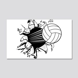 Breakthrough Volleyball 22x14 Wall Peel