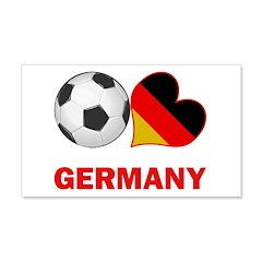 German Soccer Fan 22x14 Wall Peel