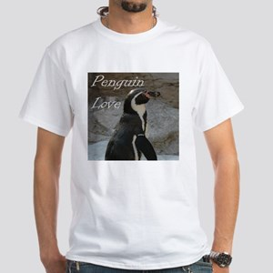 Penguin Love White T-Shirt