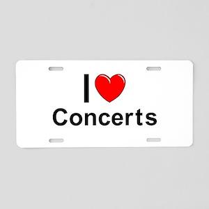 Concerts Aluminum License Plate