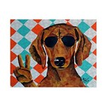 Dachshund Peace Sign Small Puzzle