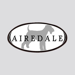 Airedale Terrier Oval #3 Patches